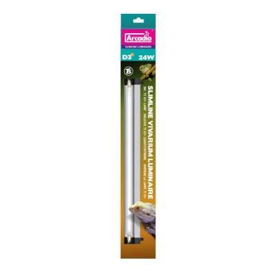 Arcadia Slimline T5 Luminaire, 12% Lamp, desert, 39 Watt