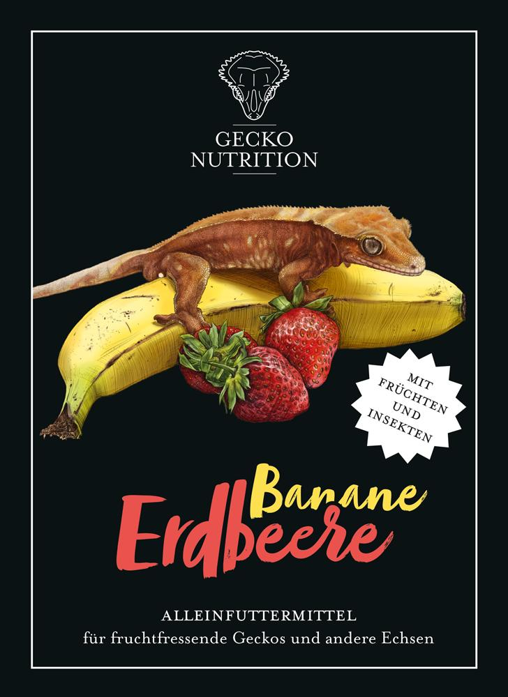 Banane erdbeere etikett
