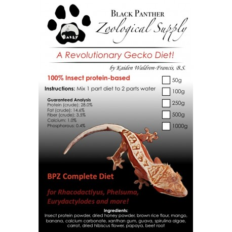 Black panther zoological gecko diet