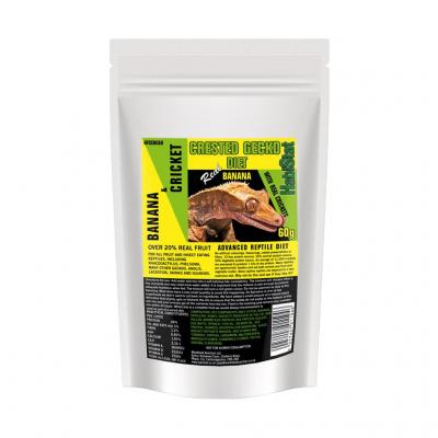 HabiStat Crested Gecko Diet, Banana and Cricket, Eco Pak, 60g