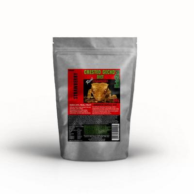 HabiStat Crested Gecko Diet, Strawberry, Eco Pak, 60g