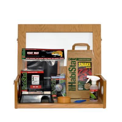 HabiStat Hatchling Snake Starter Kit, chêne