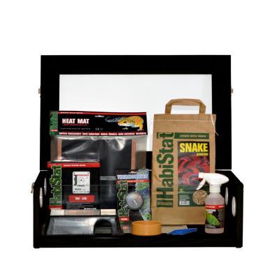 HabiStat Hatchling Snake Starter Kit, Black