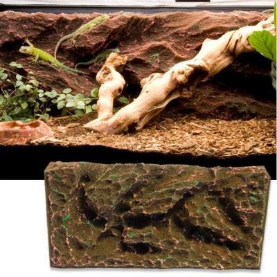 T-Rex Foam Rock Ridge Vivarium Background